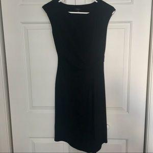 {ANN TAYLOR} Asymmetrical Gathered Waist Dress